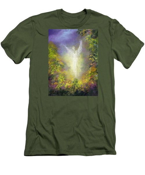 Men's T-Shirt (Slim Fit) featuring the painting Blessing Angel by Marina Petro