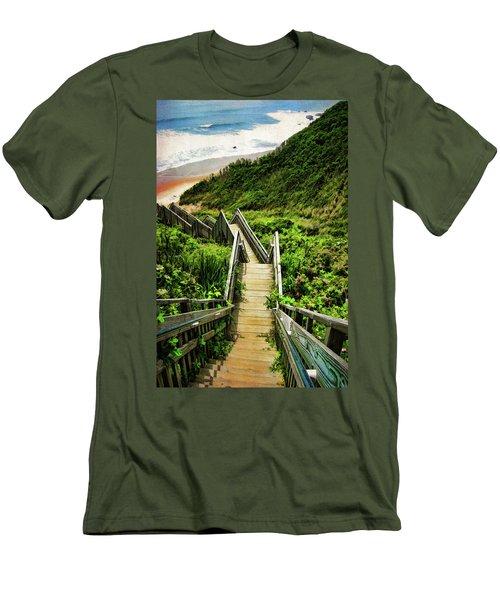 Block Island Men's T-Shirt (Slim Fit) by Lourry Legarde