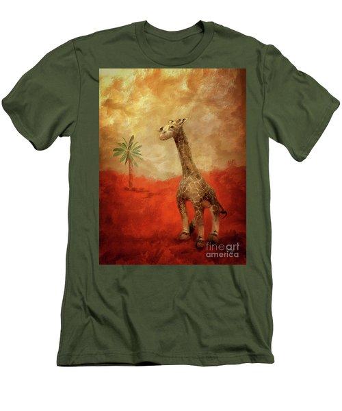 Men's T-Shirt (Slim Fit) featuring the digital art Block's Great Adventure by Lois Bryan