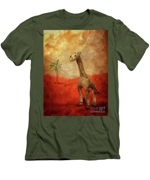 Men's T-Shirt (Athletic Fit) featuring the digital art Block's Great Adventure by Lois Bryan