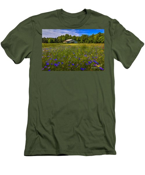 Blooming Country Meadow Men's T-Shirt (Slim Fit) by Marvin Spates