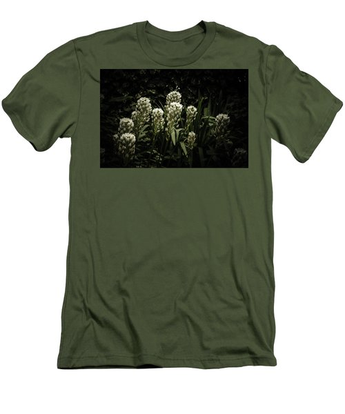 Men's T-Shirt (Slim Fit) featuring the photograph Blooming In The Shadows by Marco Oliveira