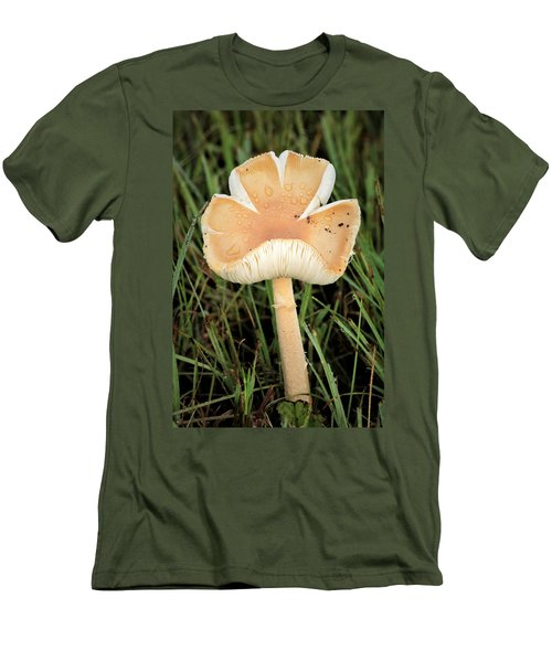 Men's T-Shirt (Athletic Fit) featuring the photograph Blooming Mushroom by Sheila Brown