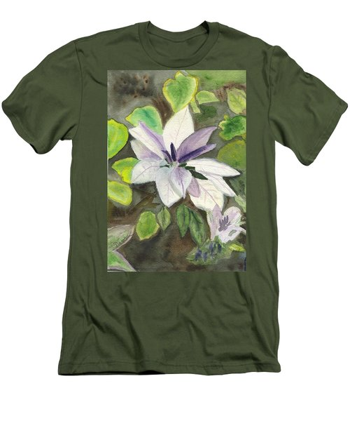 Men's T-Shirt (Slim Fit) featuring the painting Blossom At Sundy House by Donna Walsh