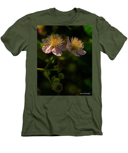 Blossoms 3 Men's T-Shirt (Slim Fit) by Steve Warnstaff