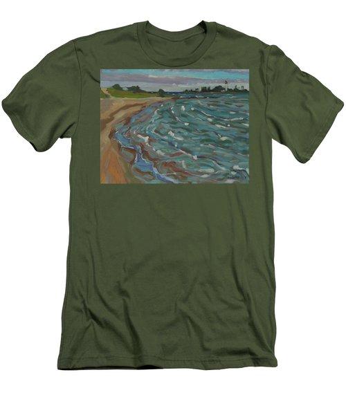 Blown Away Southampton Beach Men's T-Shirt (Athletic Fit)
