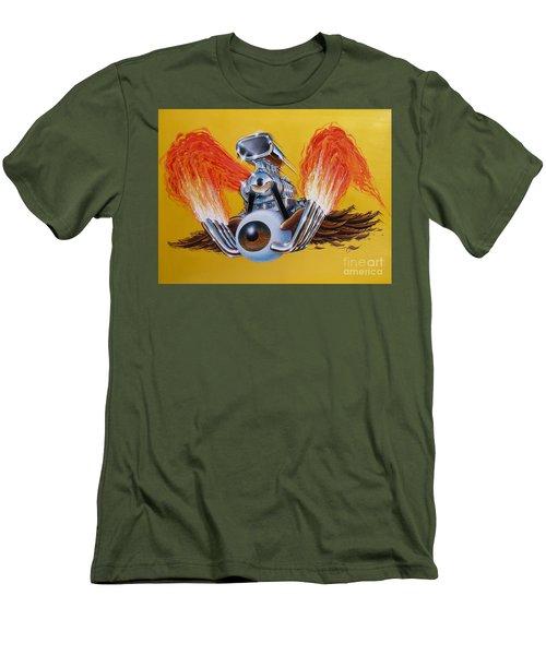 Blown Eyeball Men's T-Shirt (Slim Fit) by Alan Johnson