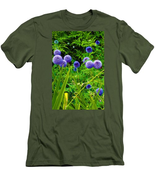 Blue Allium Flowers Men's T-Shirt (Athletic Fit)