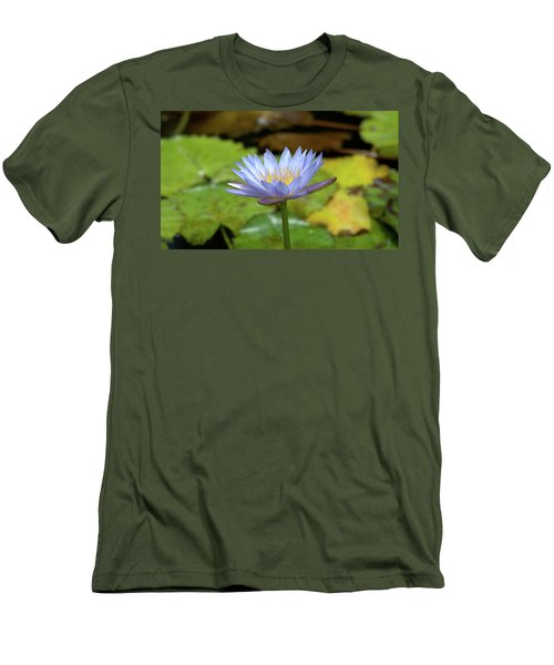 Blue And Yellow Water Lily Men's T-Shirt (Athletic Fit)