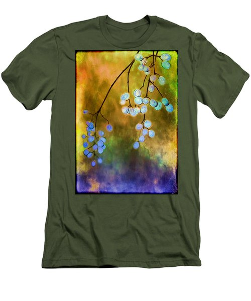Blue Autumn Berries Men's T-Shirt (Athletic Fit)