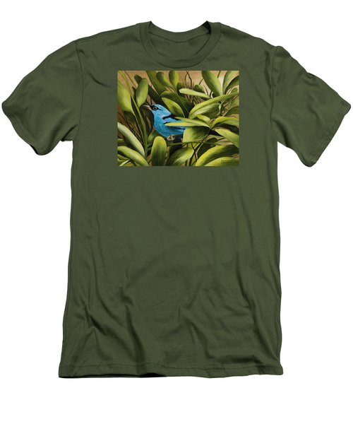 Blue Bird In Branson Men's T-Shirt (Athletic Fit)