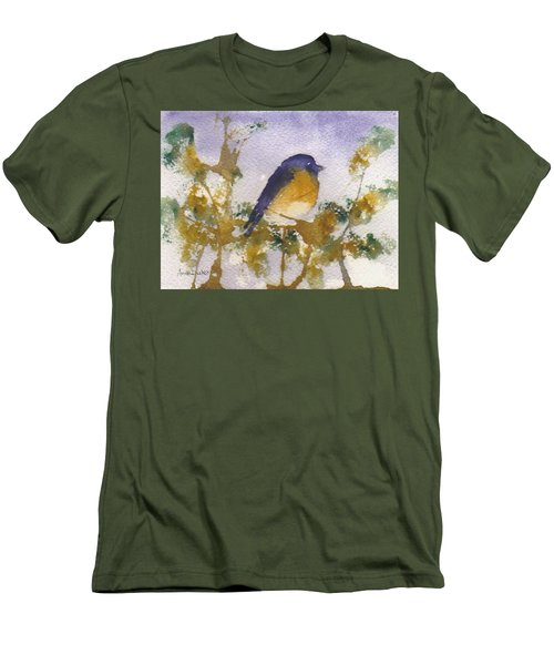 Blue Bird In Waiting Men's T-Shirt (Athletic Fit)