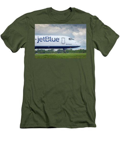 Men's T-Shirt (Athletic Fit) featuring the photograph Blue Bonnet by Guy Whiteley