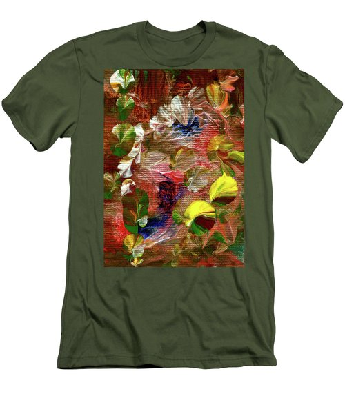 Blue Butterfly Jungle Men's T-Shirt (Athletic Fit)