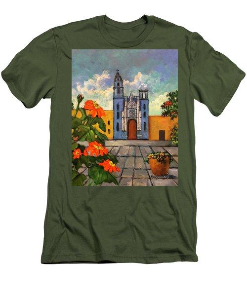 Blue Church   Iglesia Azul Men's T-Shirt (Athletic Fit)