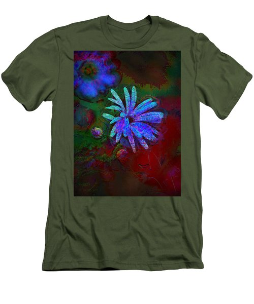 Men's T-Shirt (Slim Fit) featuring the photograph Blue Daisy by Lori Seaman