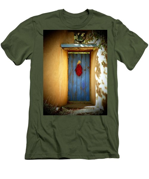 Blue Door With Chiles Men's T-Shirt (Slim Fit) by Joseph Frank Baraba