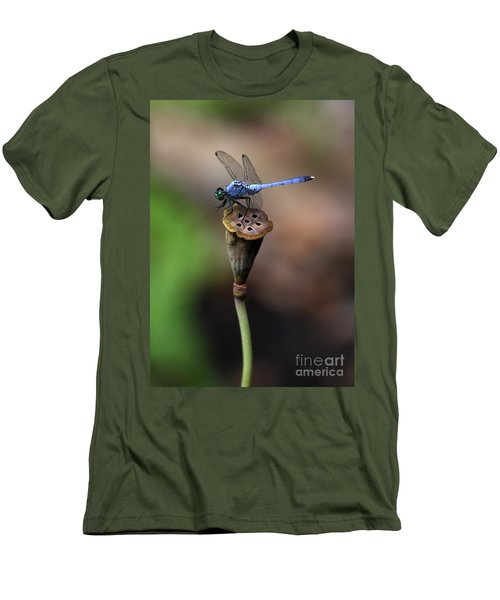 Blue Dragonfly Dancer Men's T-Shirt (Athletic Fit)