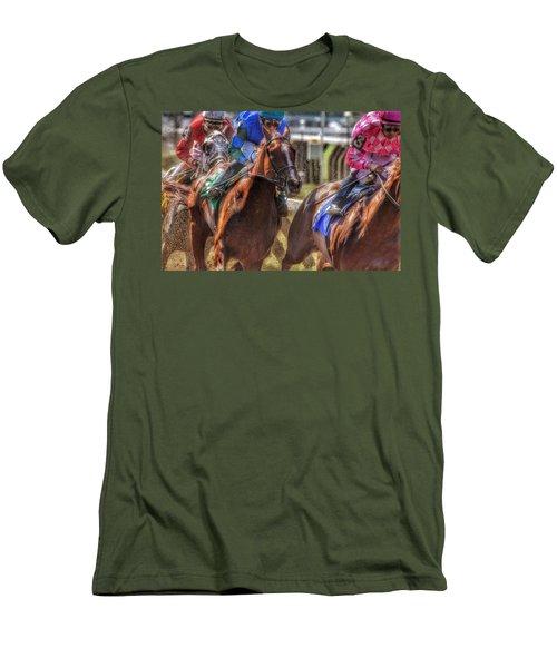 Blue Gaining Men's T-Shirt (Athletic Fit)