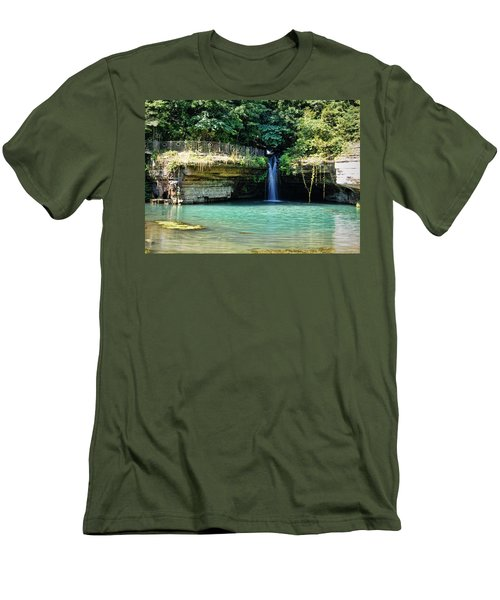 Men's T-Shirt (Slim Fit) featuring the photograph Blue Glory by Cricket Hackmann