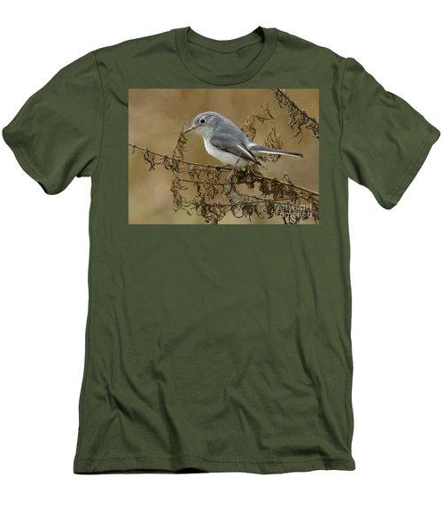 Blue-gray Gnatcatcher Men's T-Shirt (Slim Fit) by Myrna Bradshaw