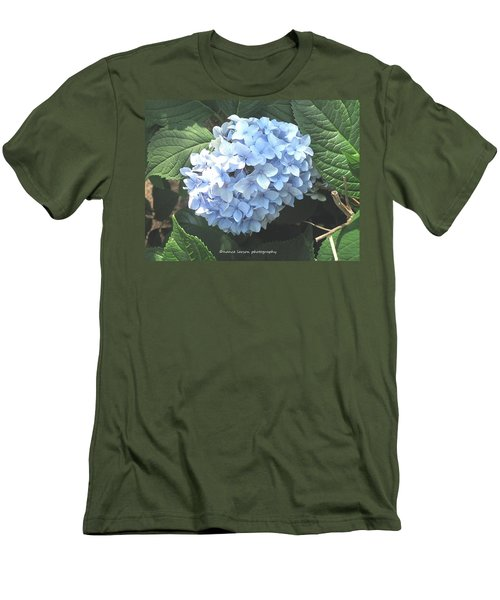 Blue Hydrangnea Men's T-Shirt (Slim Fit) by Nance Larson
