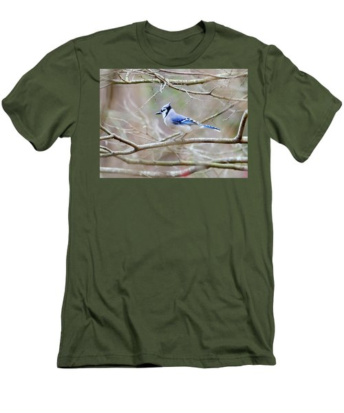 Men's T-Shirt (Slim Fit) featuring the photograph Blue Jay by George Randy Bass
