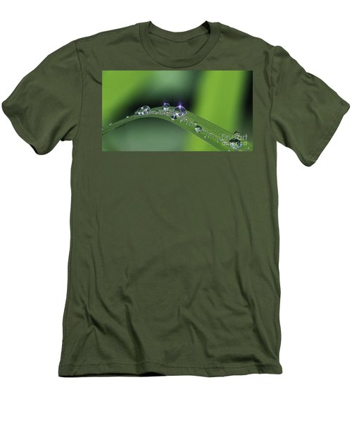 Blue Light On The Droplets Men's T-Shirt (Athletic Fit)