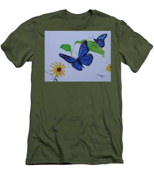 Blue Monarch Men's T-Shirt (Athletic Fit)