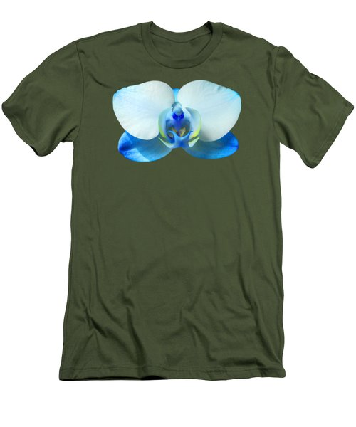 Men's T-Shirt (Slim Fit) featuring the photograph Blue Orchid 1 by Scott Carruthers