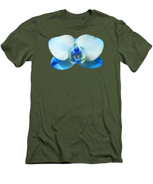 Blue Orchid 1 Men's T-Shirt (Slim Fit) by Scott Carruthers