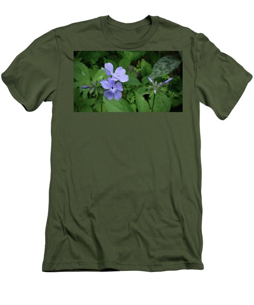 Blue Phlox Men's T-Shirt (Slim Fit) by Tim Good