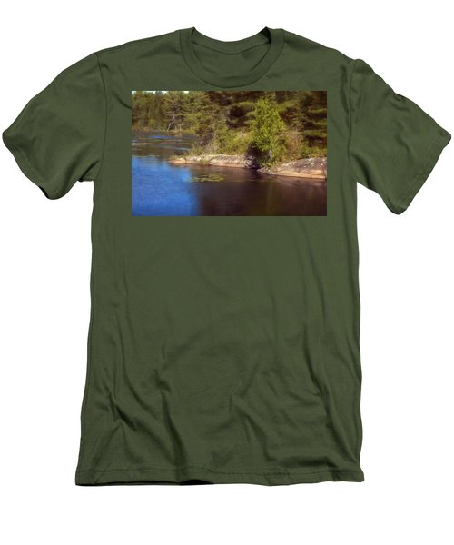 Blue Pond Marsh Men's T-Shirt (Athletic Fit)