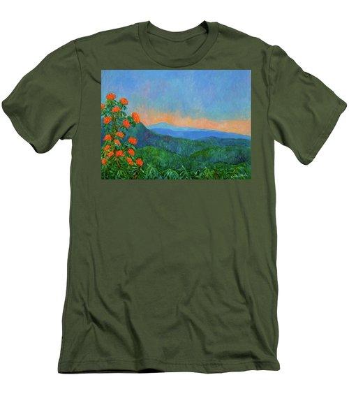 Blue Ridge Morning Men's T-Shirt (Slim Fit) by Kendall Kessler