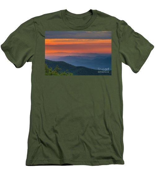 Blue Ridge Sunrise At Wintergreen  Men's T-Shirt (Athletic Fit)