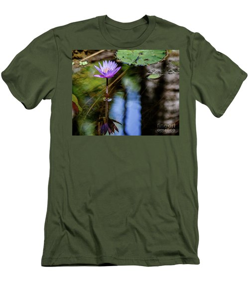 Blue Water Lily Men's T-Shirt (Athletic Fit)
