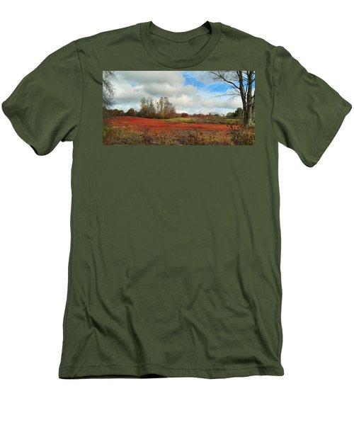 Blueberry Fields Men's T-Shirt (Slim Fit) by Jewels Blake Hamrick