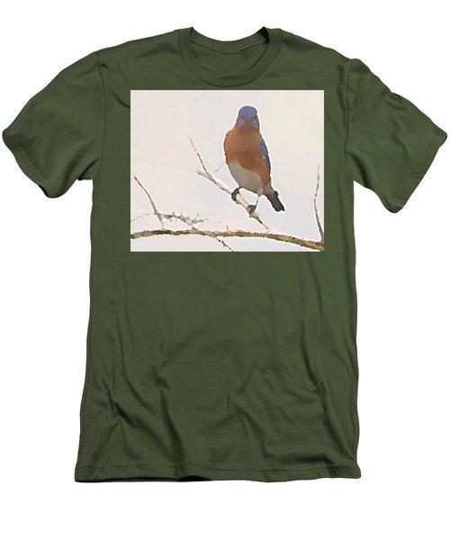 Bluebird Stare  Men's T-Shirt (Athletic Fit)