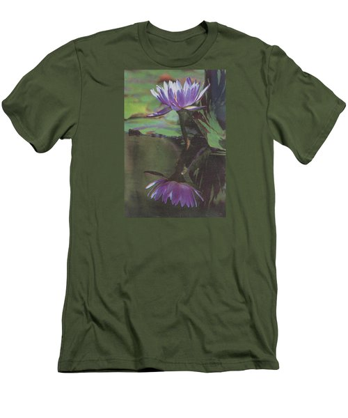 Blush Of Purple Men's T-Shirt (Slim Fit) by Suzanne Gaff