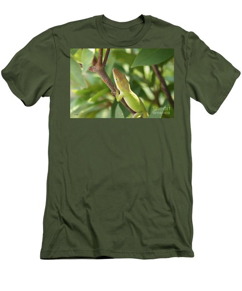 Blusing Lizard Men's T-Shirt (Athletic Fit)