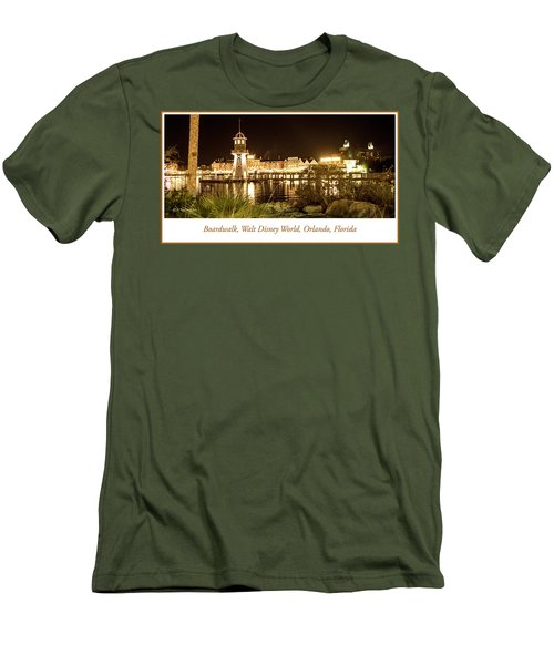 Boardwalk At Night, Walt Disney World Men's T-Shirt (Slim Fit) by A Gurmankin