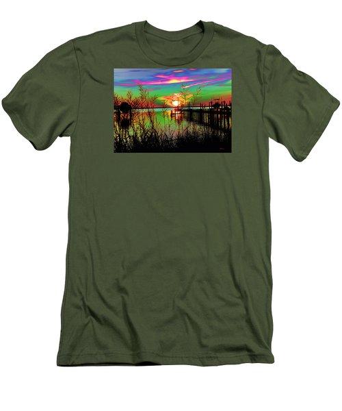 Boat Dock 3 Men's T-Shirt (Athletic Fit)