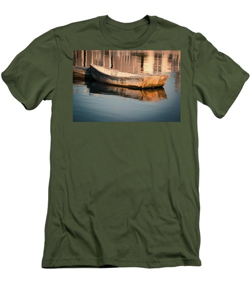 Boat In The Harbor Men's T-Shirt (Athletic Fit)