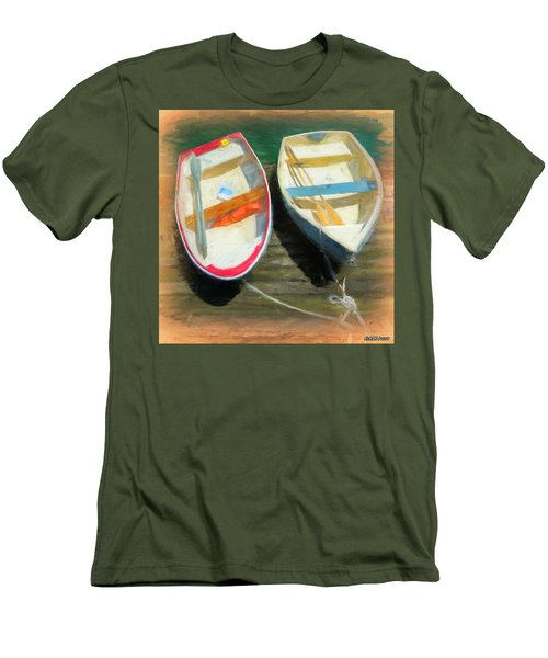 Boats Tied On The Landing Men's T-Shirt (Athletic Fit)