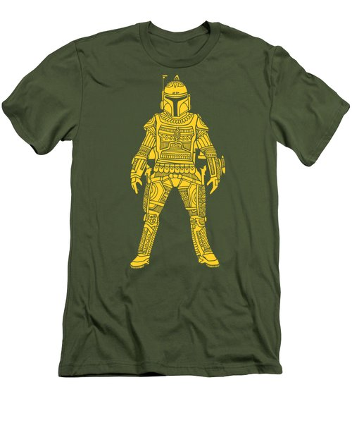 Boba Fett - Star Wars Art, Yellow Men's T-Shirt (Athletic Fit)