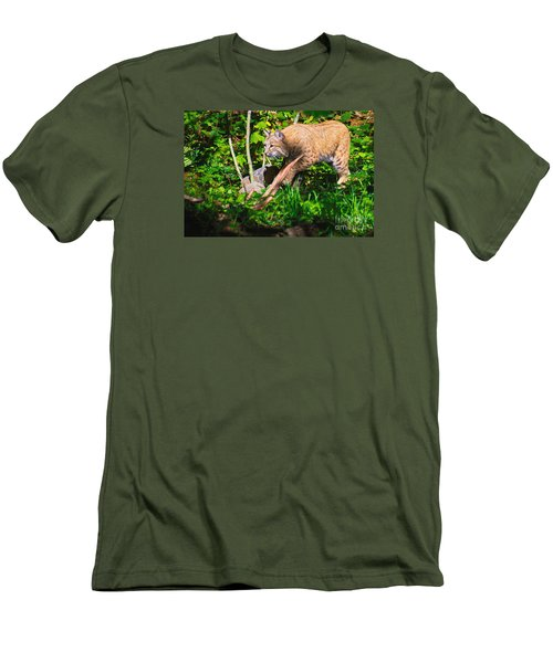 Bobcat At Water's Edge Men's T-Shirt (Athletic Fit)