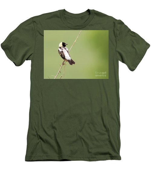 Men's T-Shirt (Athletic Fit) featuring the photograph Bobolink Looking At You by Ricky L Jones