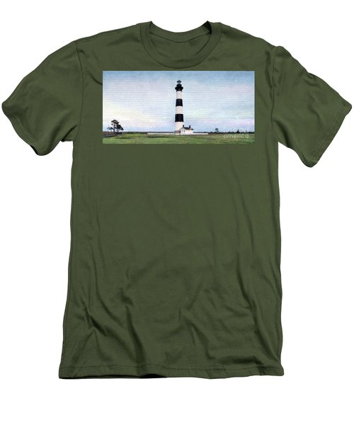 Bodie Island Lighthouse Mural Art Men's T-Shirt (Athletic Fit)