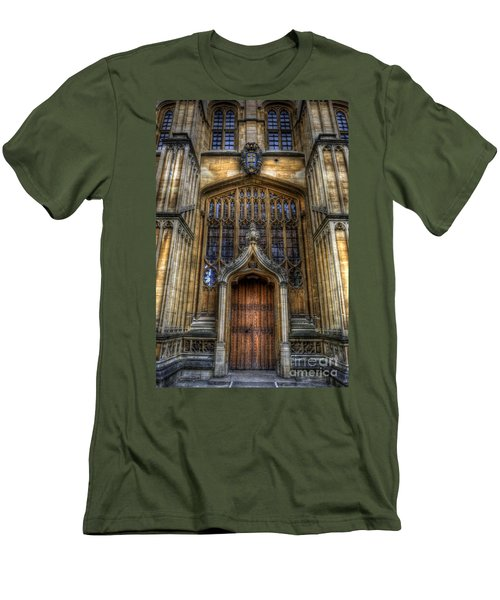 Bodleian Library Door - Oxford Men's T-Shirt (Athletic Fit)