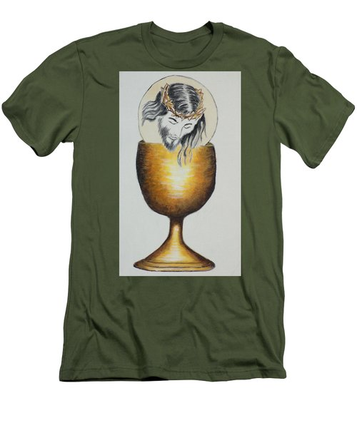 Body, Blood, Soul And Divinity Men's T-Shirt (Athletic Fit)